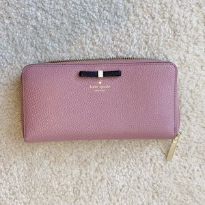 kate spade Bags - Kate Spade Cooke Hill Bow Lacey Wallet Dusty Peony